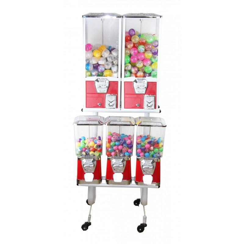 zestaw 5 automatów na stojaku